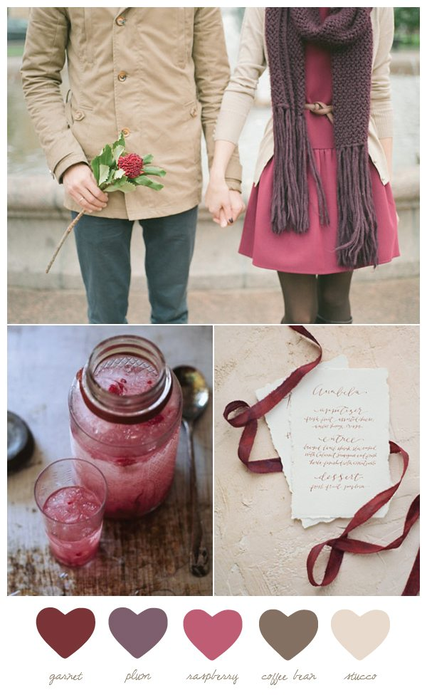 Color Palette: Garnet and Plum