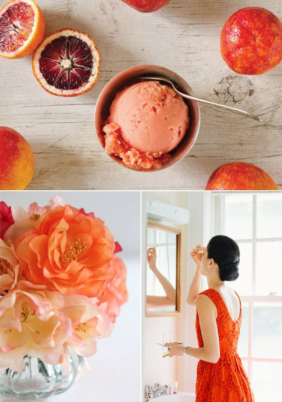 Color Palette Blood Orange Persimmon The Sweetest