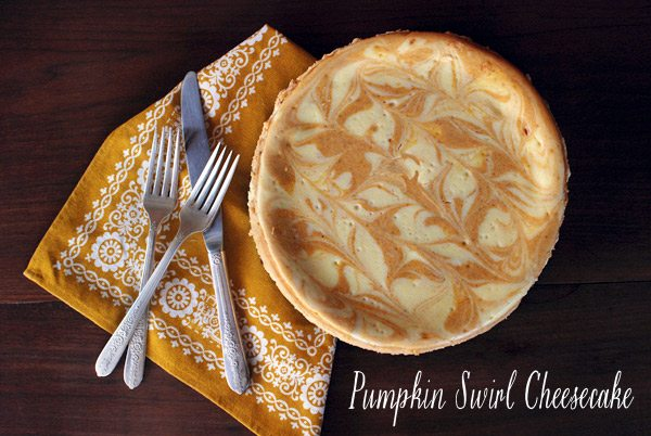 Pumpkin Swirl Cheesecake | The Sweetest Occasion