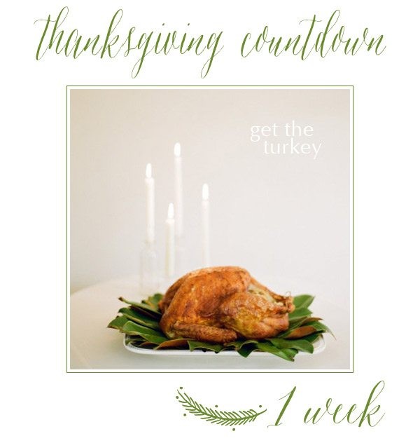 Thanksgiving Countdown | 1 Week to Go