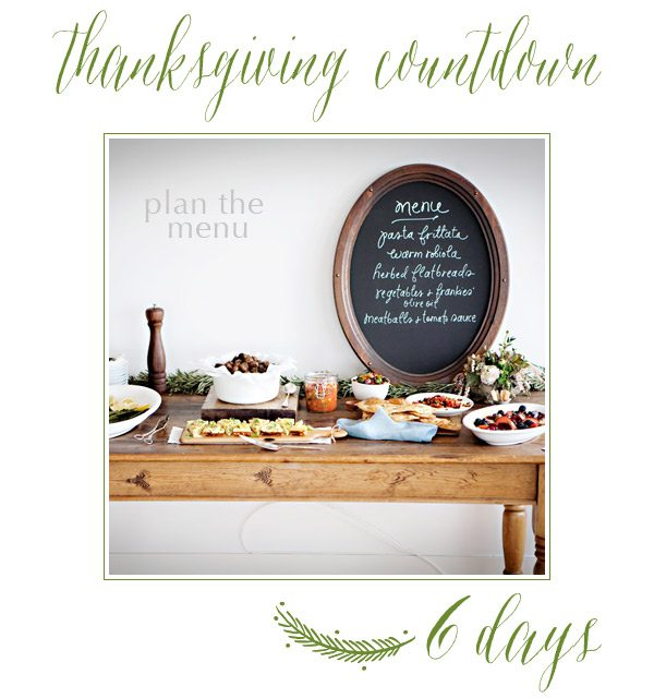 Thanksgiving Countdown | 6 Days to Go