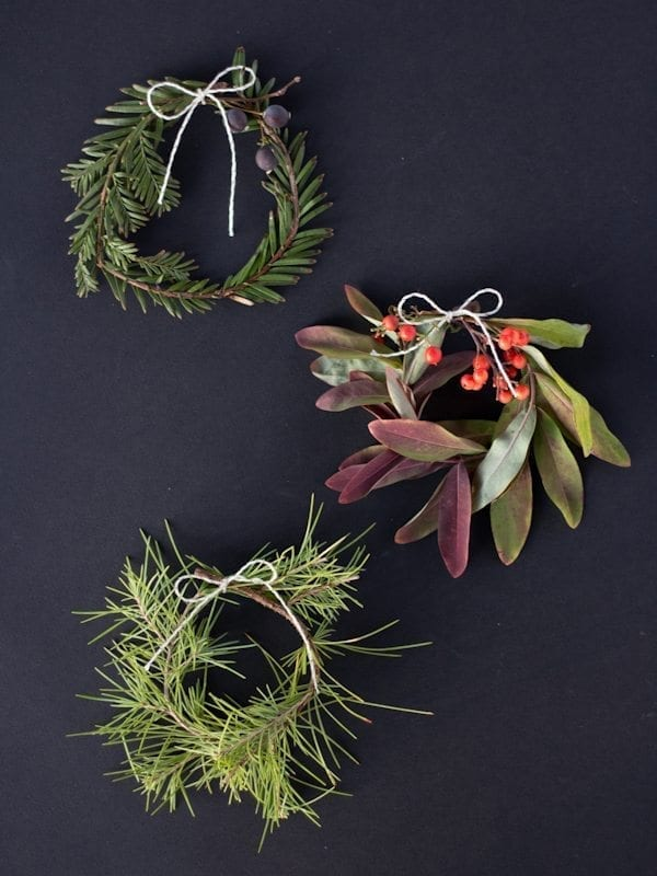 DIY Mini Holiday Wreaths thumbnail