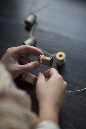 DIY Wooden Spool Garland