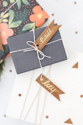 DIY Wood Veneer Gift Tags