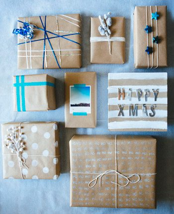 DIY Kraft Paper Gift Wrapping
