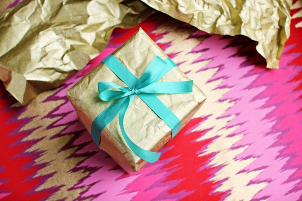 DIY Funky and Bright Gift Wrap