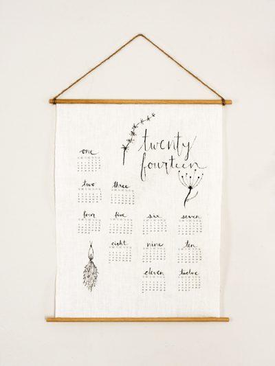 DIY Linen Wall Calendar thumbnail