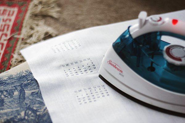 DIY Linen Wall Calendar
