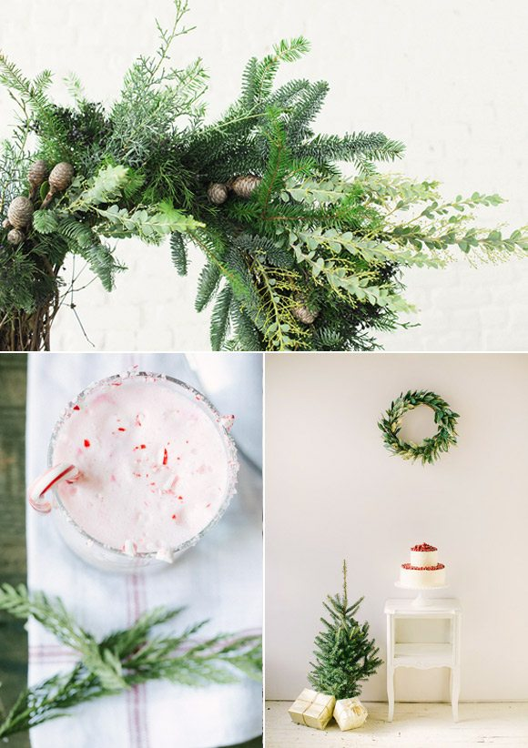Color Palette: Cranberry and Pine