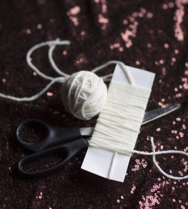 DIY Pom Pom Gift Wrap