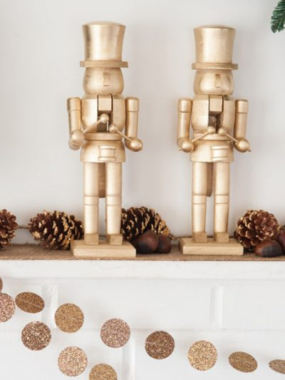 DIY Golden Nutcracker Holiday Mantel thumbnail