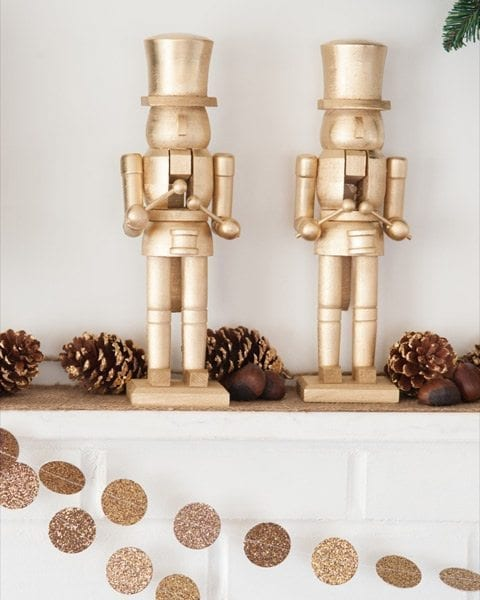 DIY Golden Nutcrackers