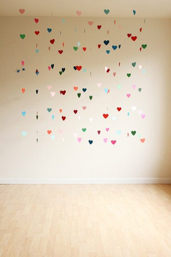 DIY Floating Heart Backdrop