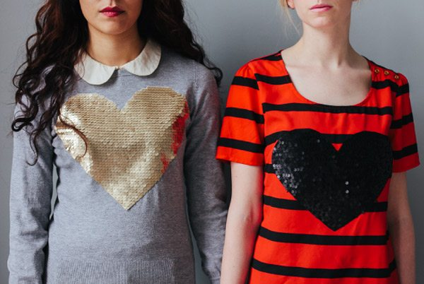 DIY Sequin Heart Shirts