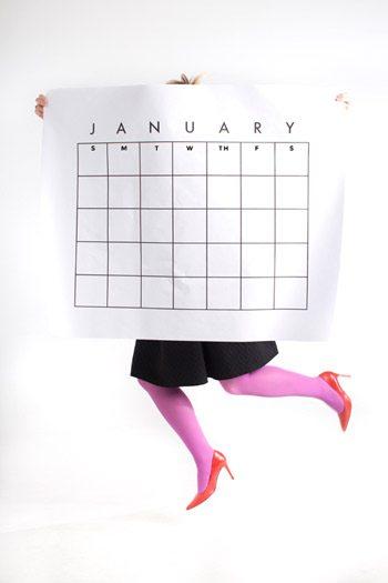 Giant Printable Calendar