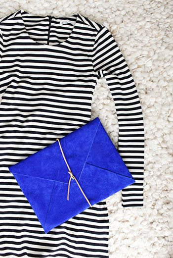 DIY Suede Clutch