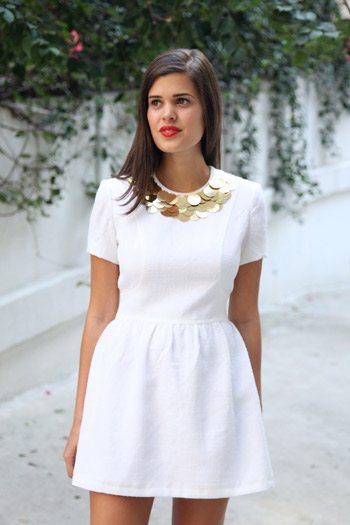 DIY Embellished Collar Dress