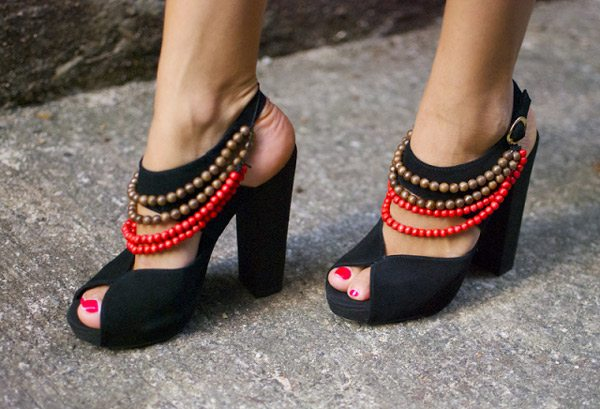 DIY Tribal Beaded Heels