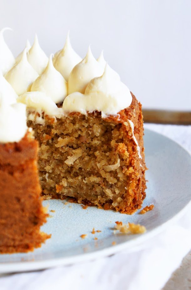 Banana Cake with Honey Cream Frosting - The Sweetest Occasion