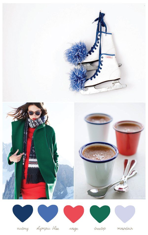 Color Palette: Olympic Blue and Rouge