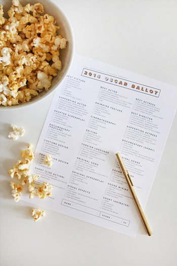10 Glitzy DIY Oscars Party Ideas - Page 2 of 11 - The Sweetest ...