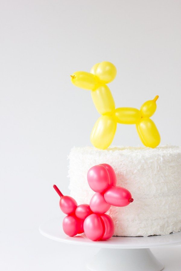 DIY Balloon Animal Cake Topper