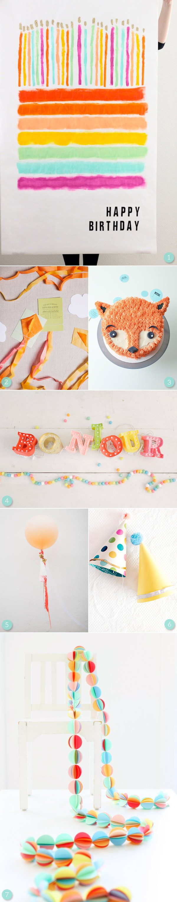 Bright Colorful Birthday Party Ideas