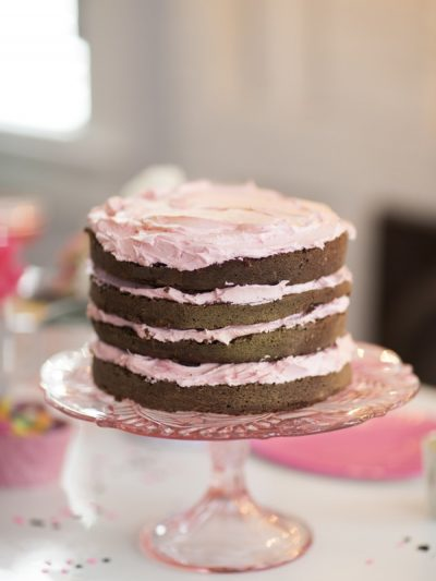 Chocolate Cake with Rose Buttercream thumbnail