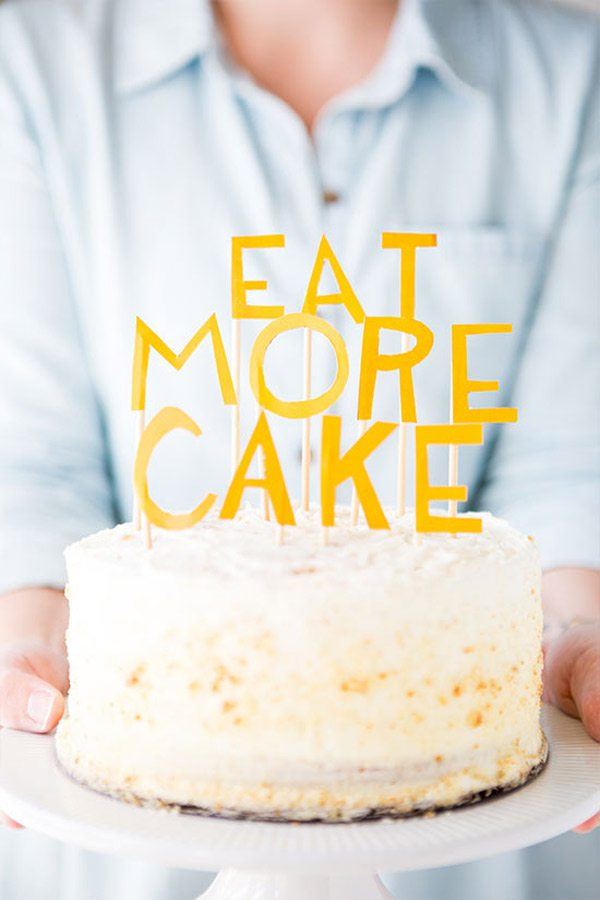 DIY Eat More Cake Topper