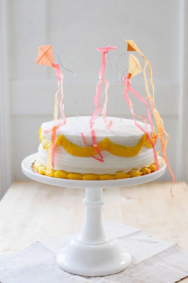 DIY Kite Cake Topper