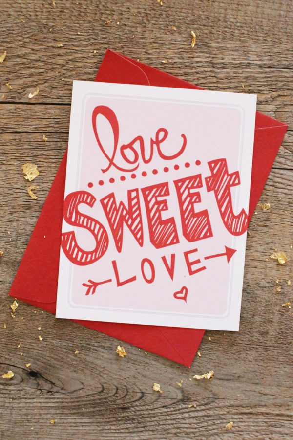 Love Sweet Love - Valentine's Day Printables