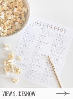 10 DIY Oscars Party Ideas