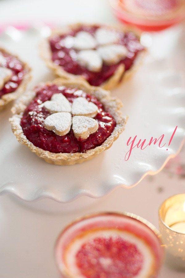 Raspberry Rose Tarts
