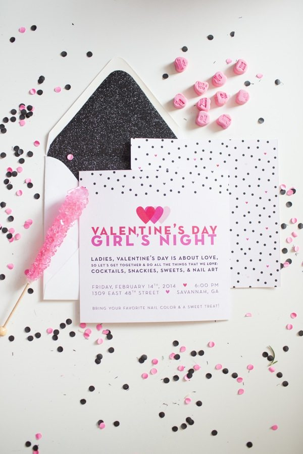 Valentine's Day Invitations by Lavender & Honey Designs