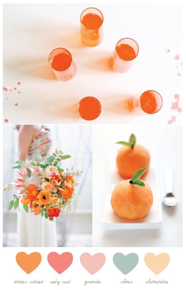 Color Palette: Winter Citrus and Granita
