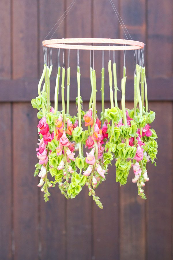 diy hanging floral chandelier the sweetest occasion