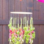 Nice Stems: DIY Hanging Flower Chandelier