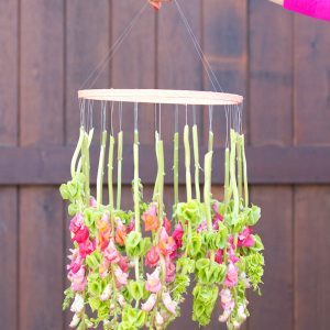 DIY Hanging Flower Chandelier thumbnail