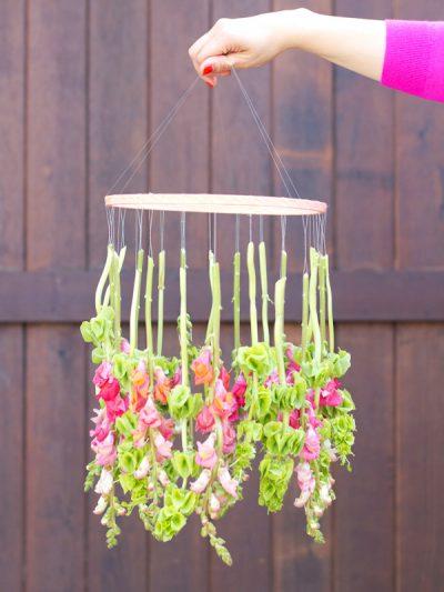 DIY Hanging Flower Chandelier thumbnail
