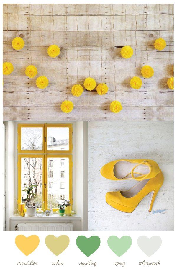 Color Palette: Dandelion and Seedling