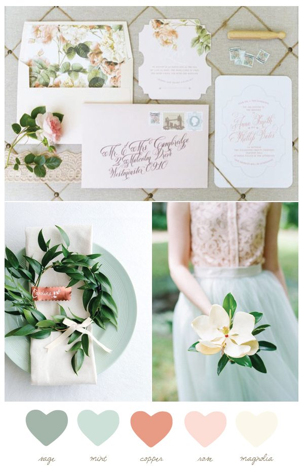 Color Palette: Mint and Magnolia