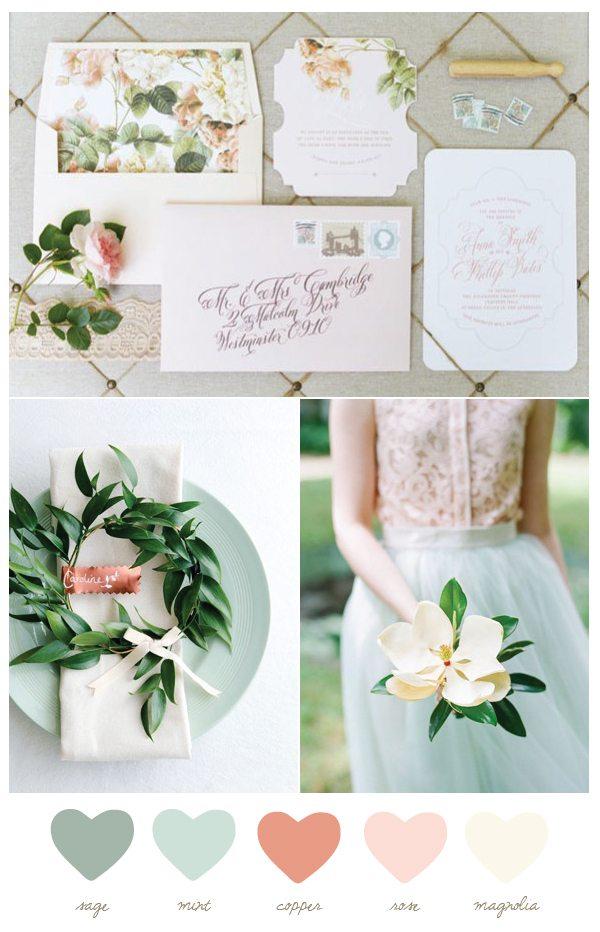 Color Palette: Mint and Magnolia