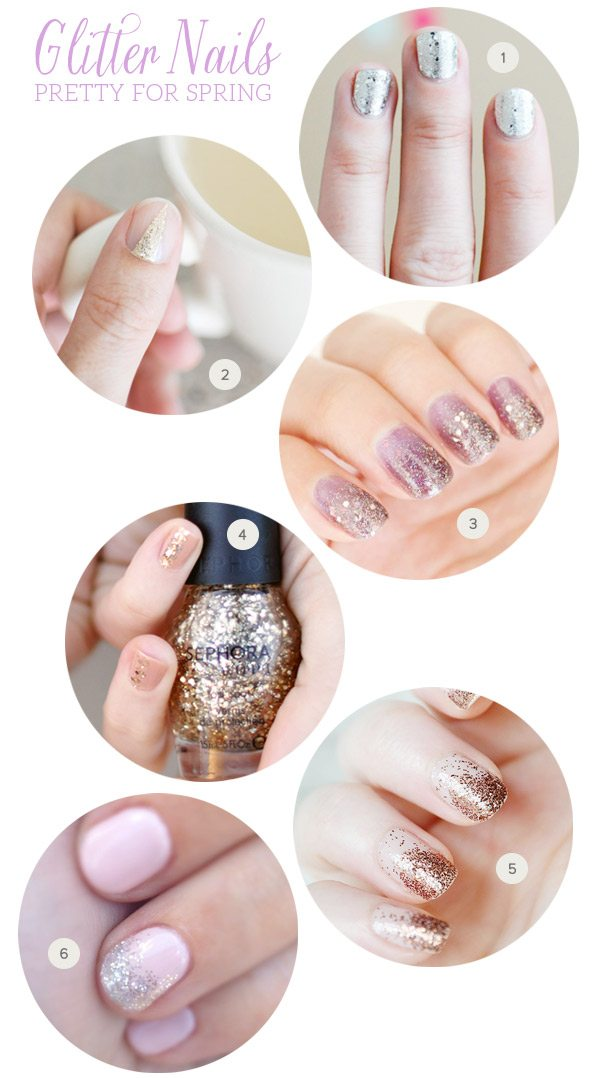 Pretty for Spring: Glitter Nails