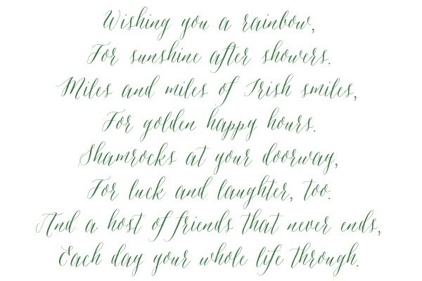 An Irish Blessing | The Sweetest Occasion