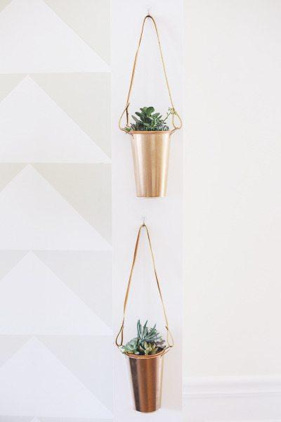 DIY Copper Planters