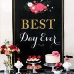 Best Day Ever: Glamorous Black + Floral Bridal Shower