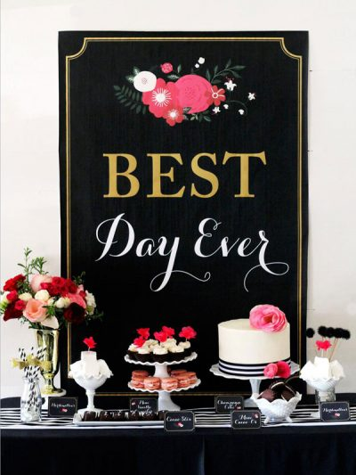 Best Day Ever: Glamorous Black + Floral Bridal Shower thumbnail