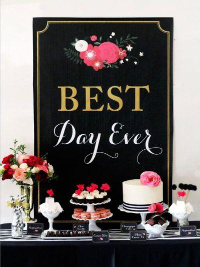 Best Day Ever: Glamorous Black + Floral Bridal Shower thumbnail