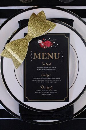 Glam Black and Gold Wedding