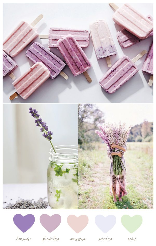 Color Palette: Gladiolus and Nimbus